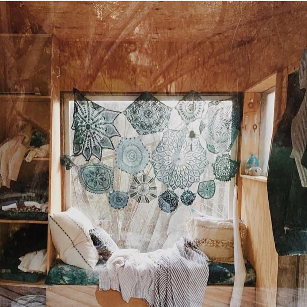 Window Seat Fabric wall hanging