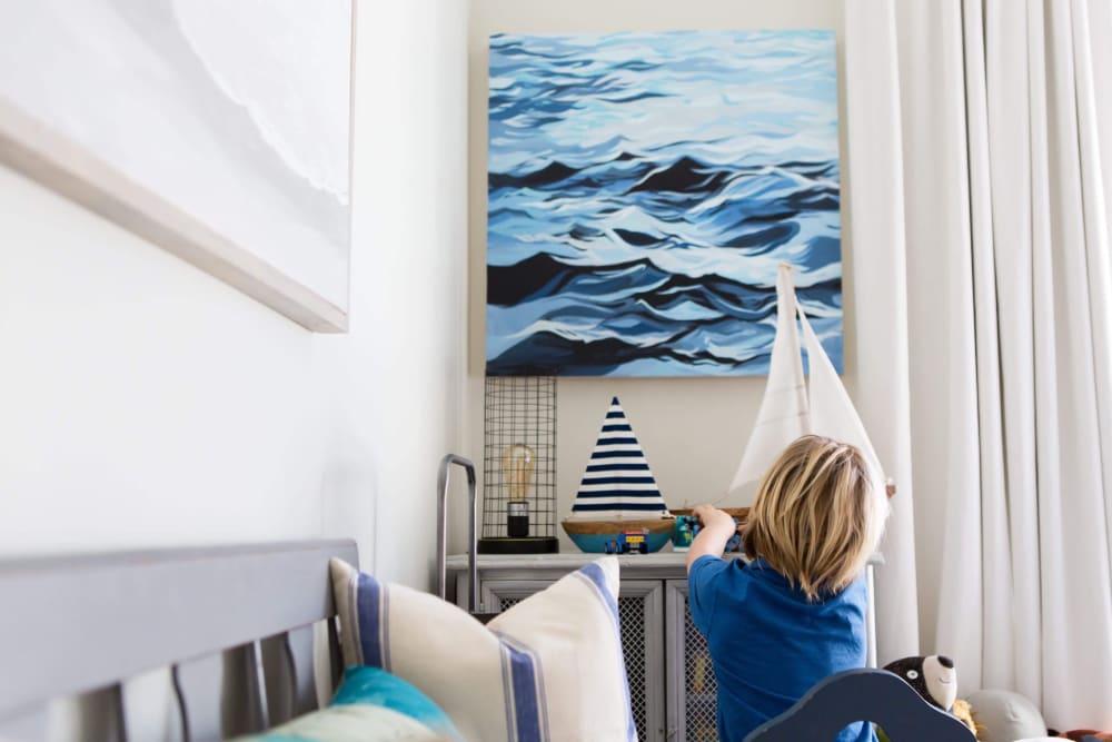 Deep blue ocean painting