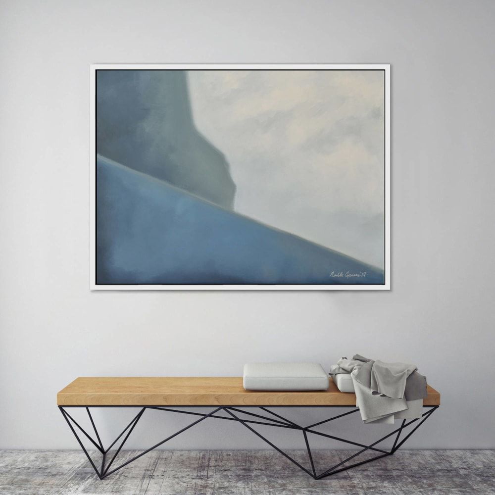 Abstract ocean cliff painting