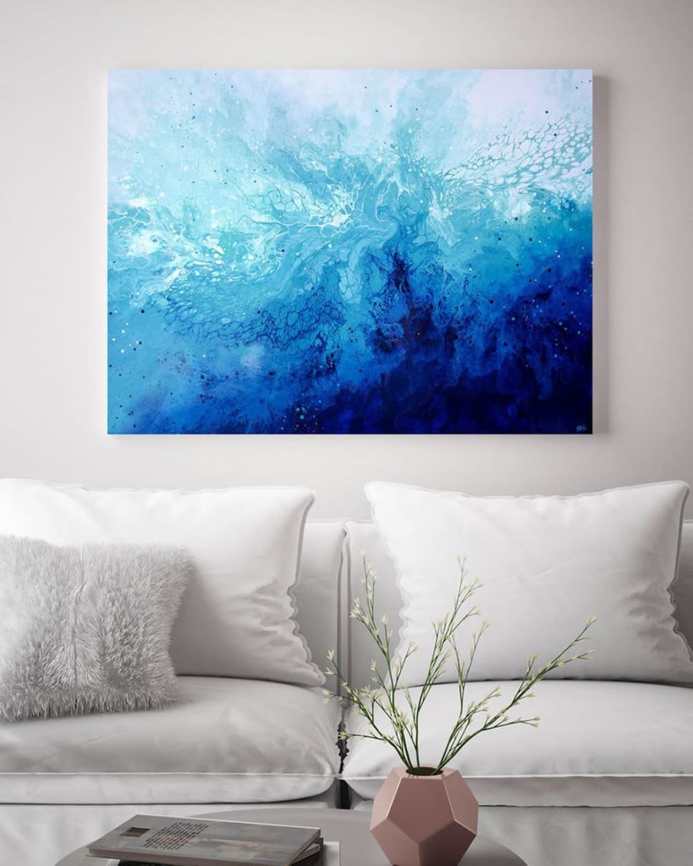 Abstract underwater wall art