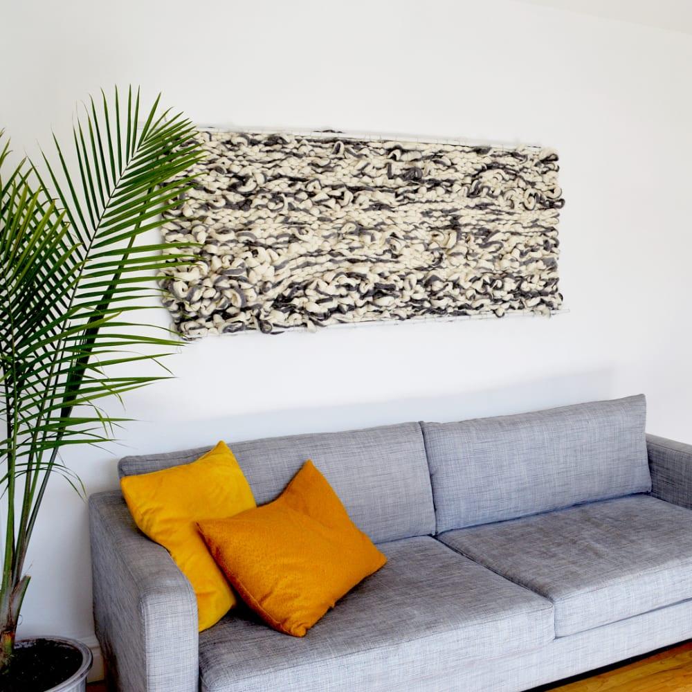 chunky macrame wall art