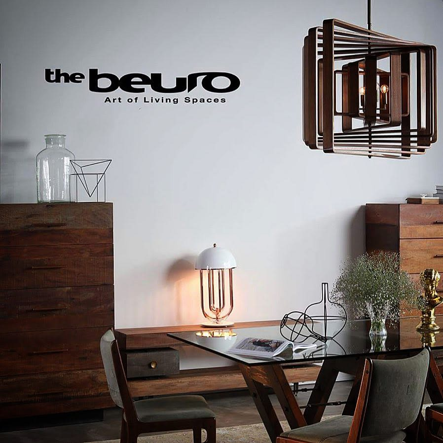 Cubist sculptural wood chandelier