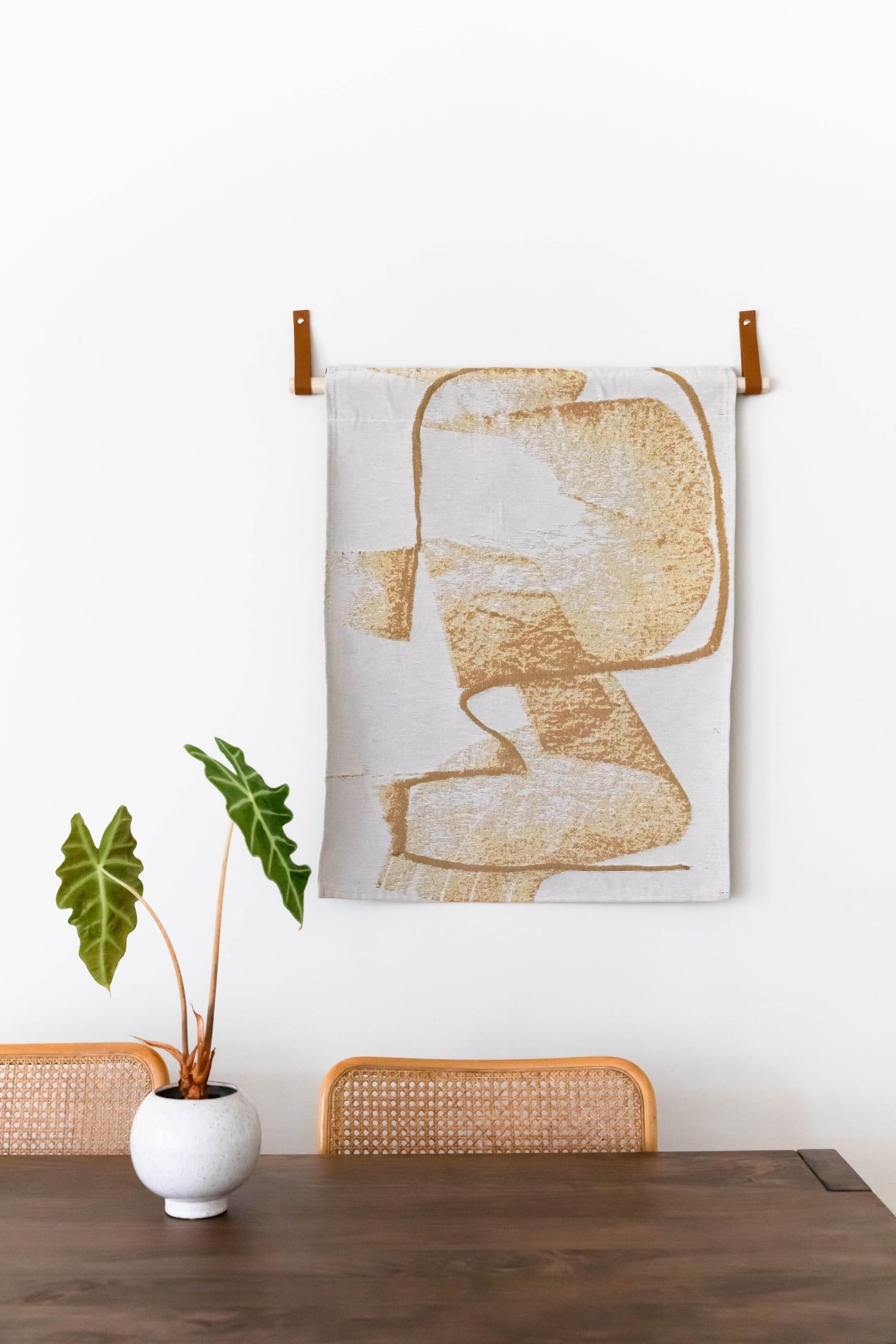 Gold abstract wall hanging