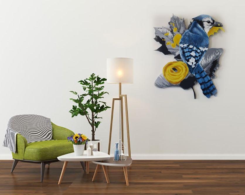 Blue Jay acrylic painting