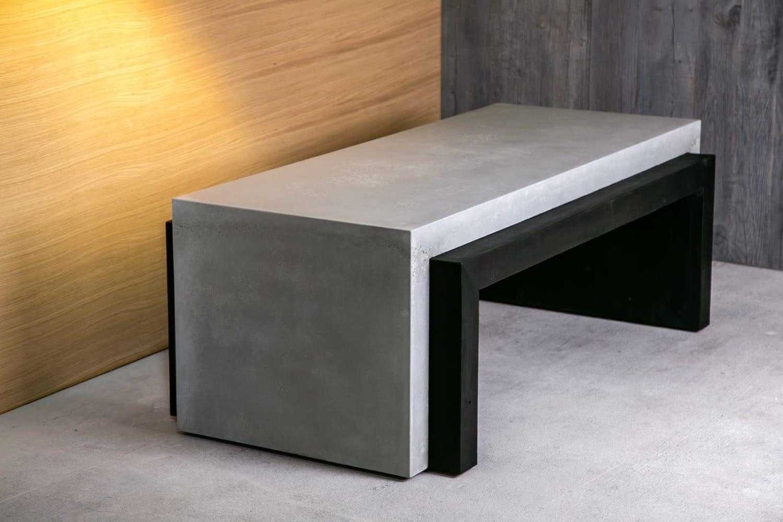Custom concrete bench