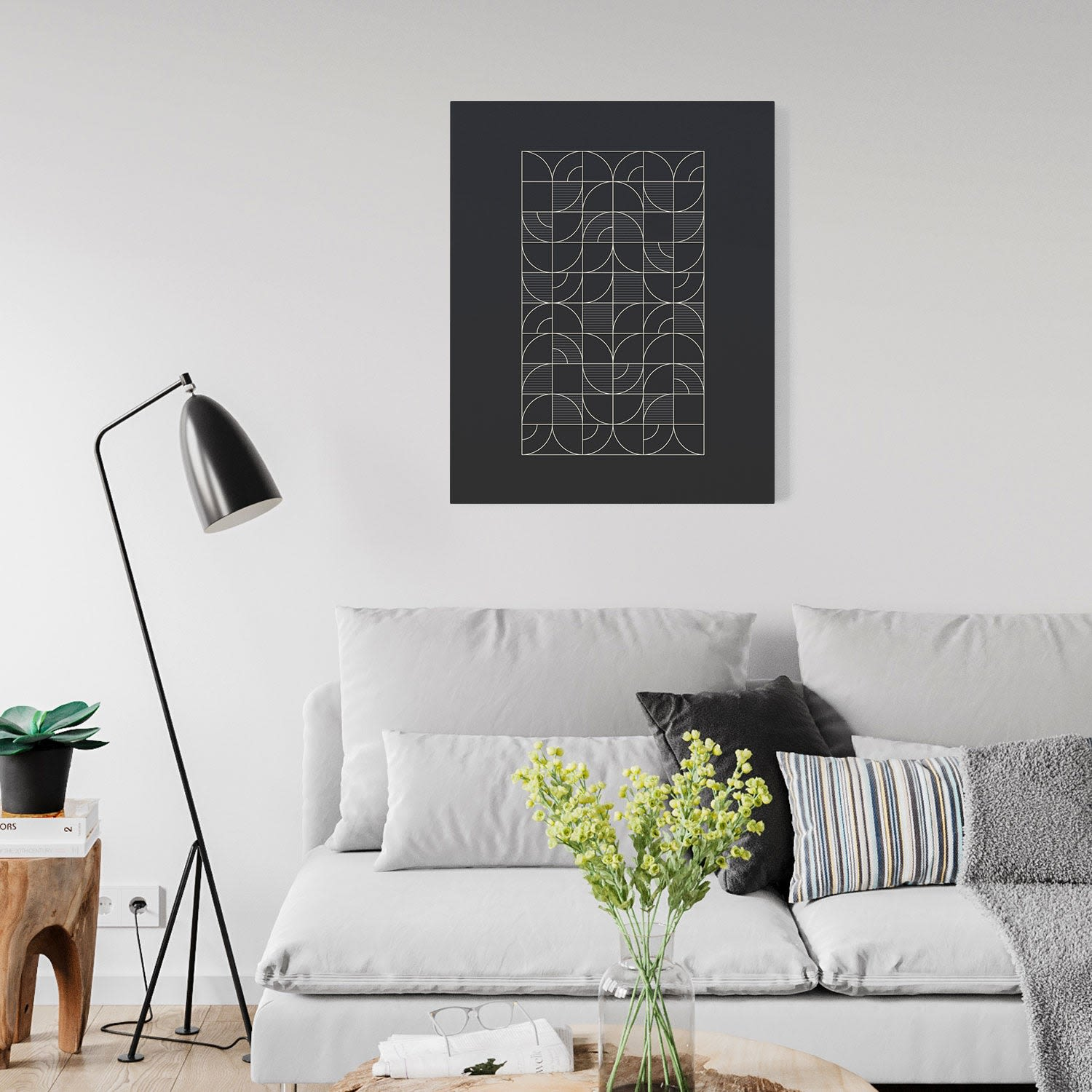 Geometric Night Harvest Canvas Print by Michael Grace & Co