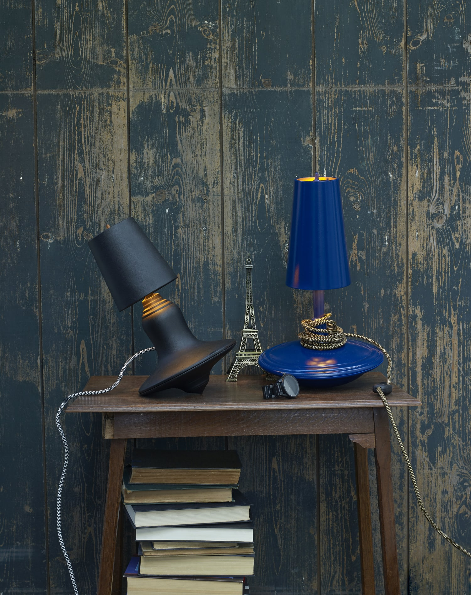 Contemporary blue bedroom lamps