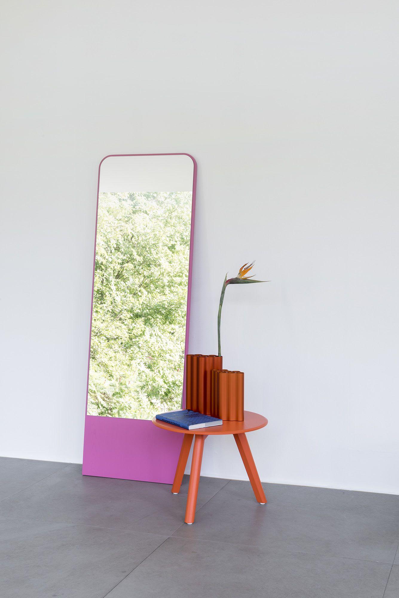 Hot pink full length mirror