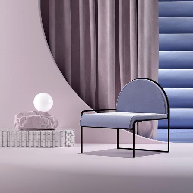 Angular purple chair