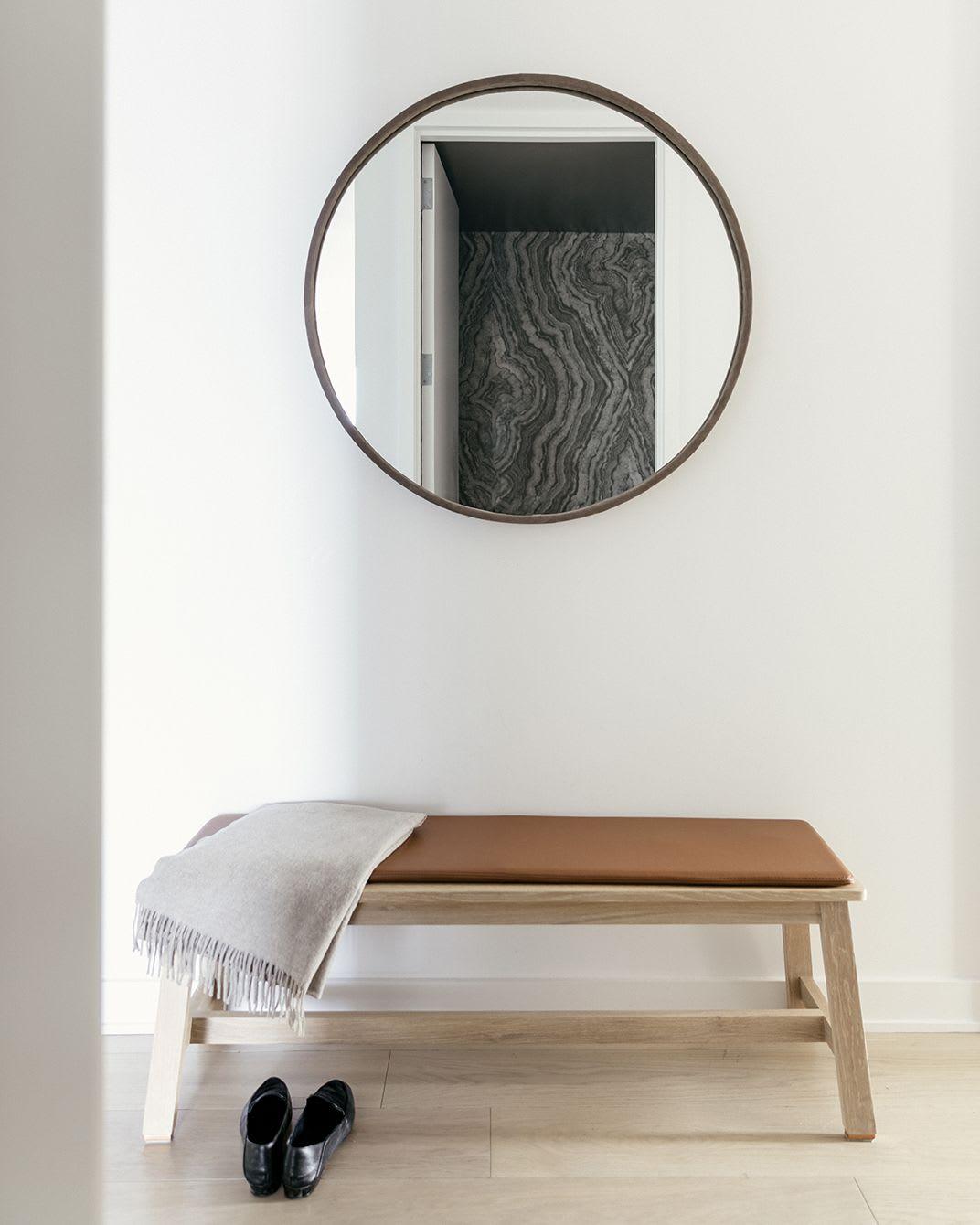 Circular oversized mirror