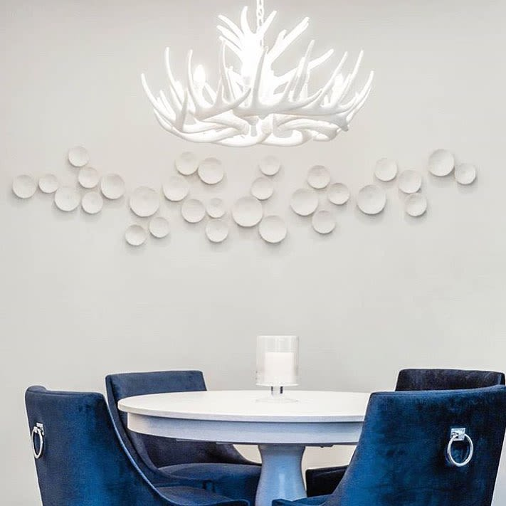 White Ceramic Porcelain Plates Wall Installation