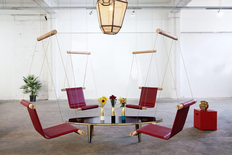 Red modern Indoor Swings
