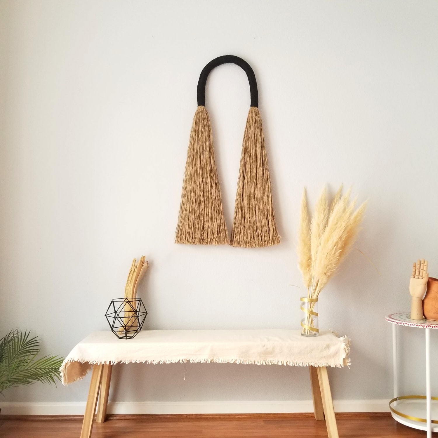 Brown and black wall hanging