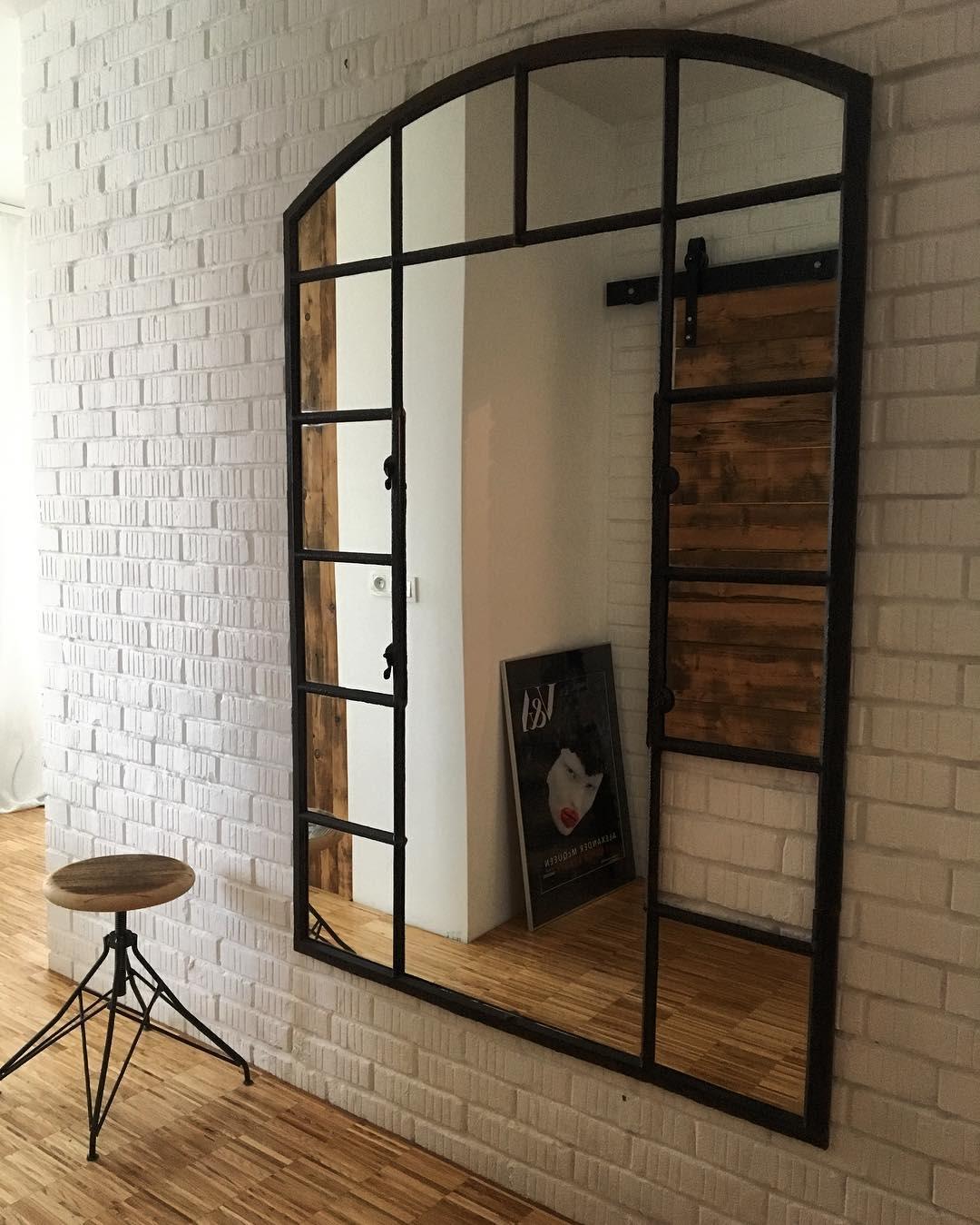 Window pane oversized mirror