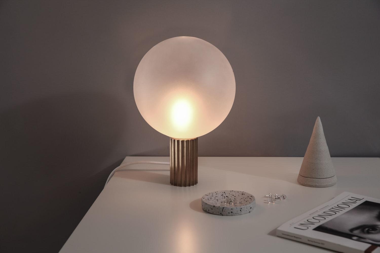 Elegant white globe table lighting