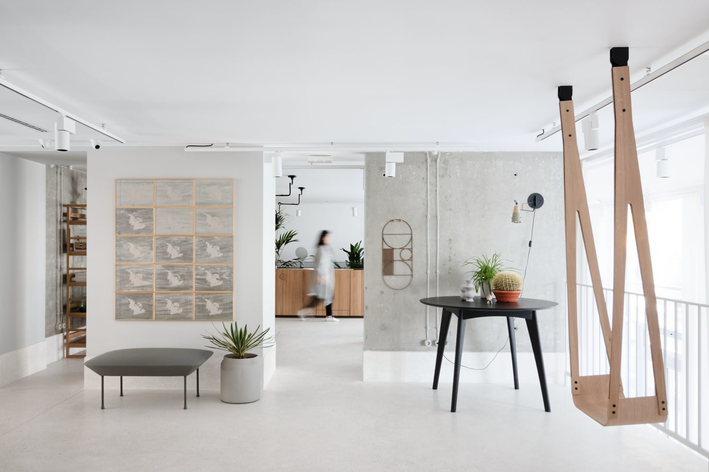 Minimalist Wood Indoor Swing