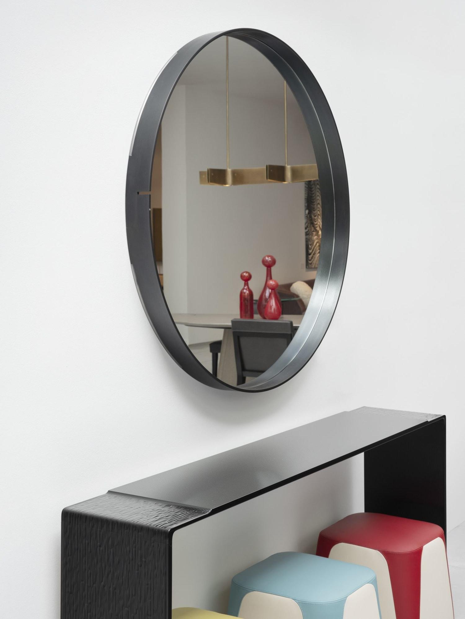 Industrial round mirror