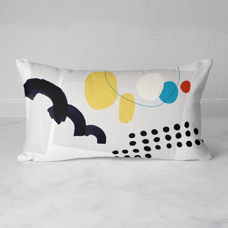 Shape & Hue Rectangular Throw Pillow by Michael Grace & Co