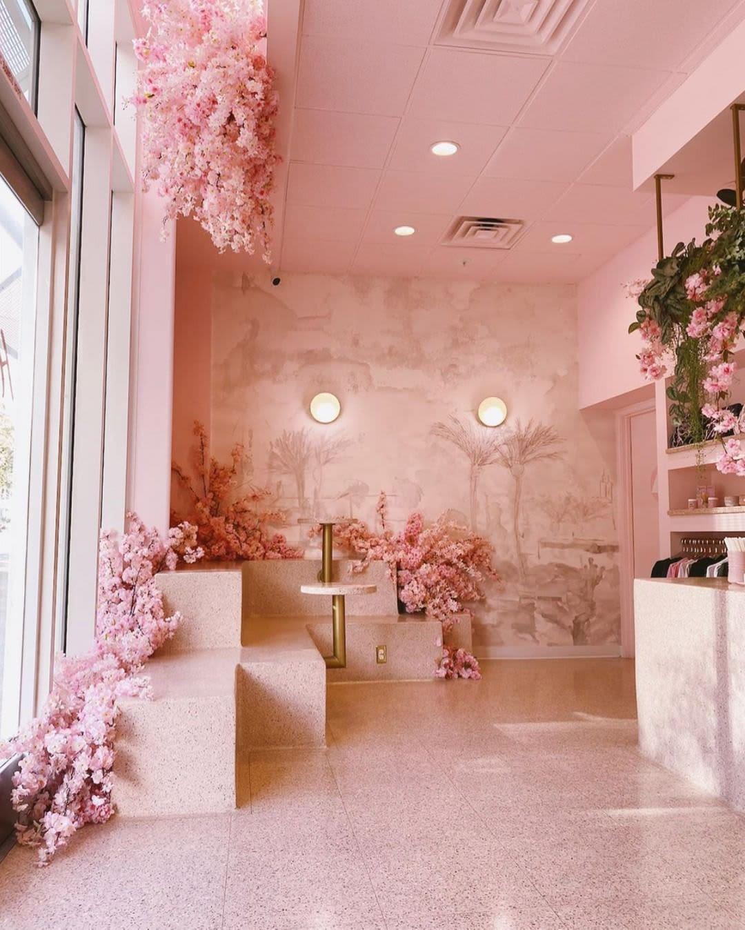 pink landscape pastel wallpaper