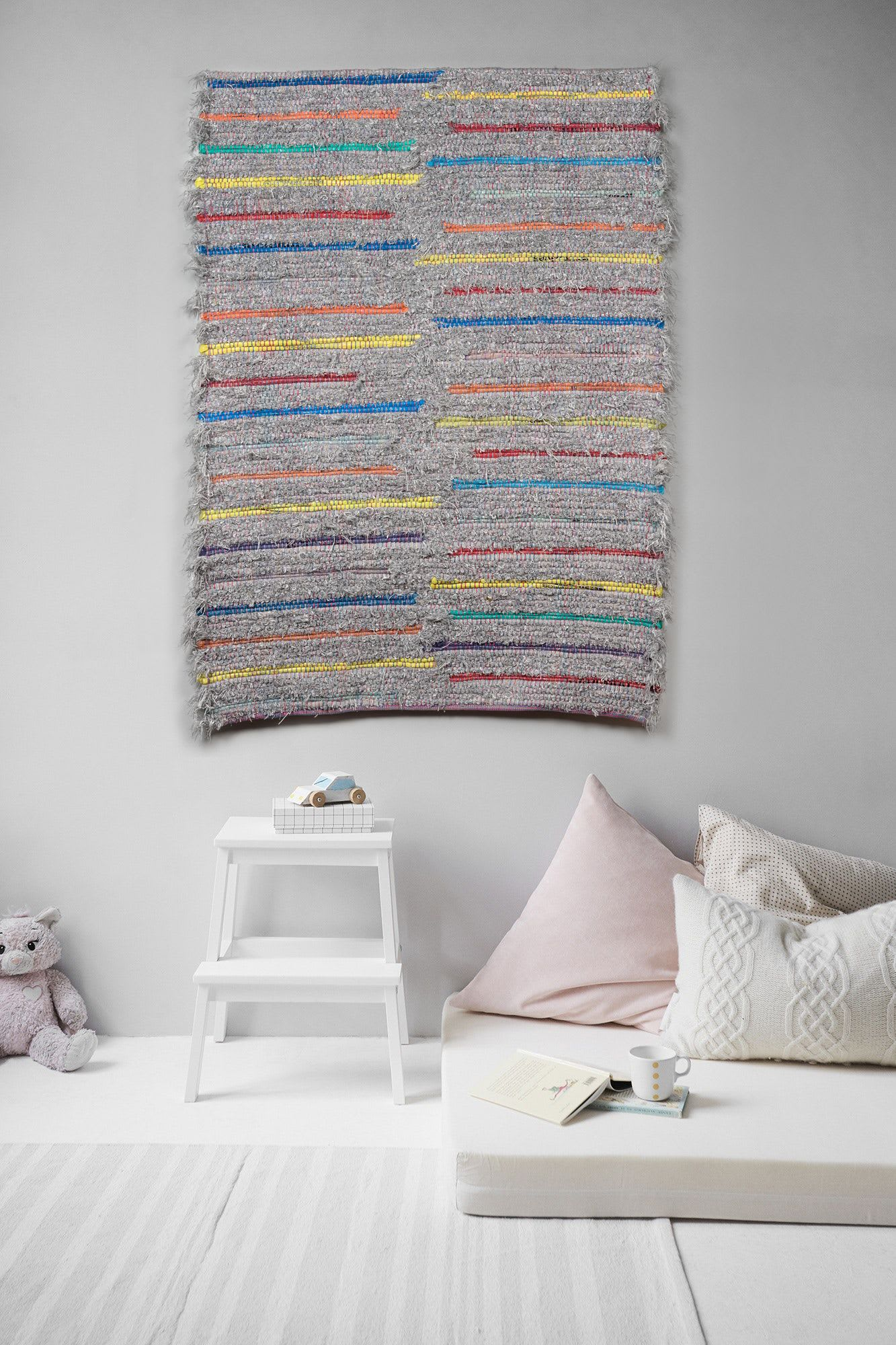 Multicolored stripes Handwoven Wall Hanging