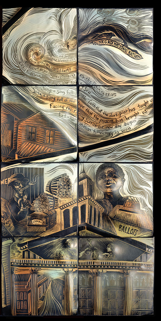 Street Murals by Natalie Blake Studios seen at The Trio At ENCORE!, Tampa - Dawning Sun: 1820-1920