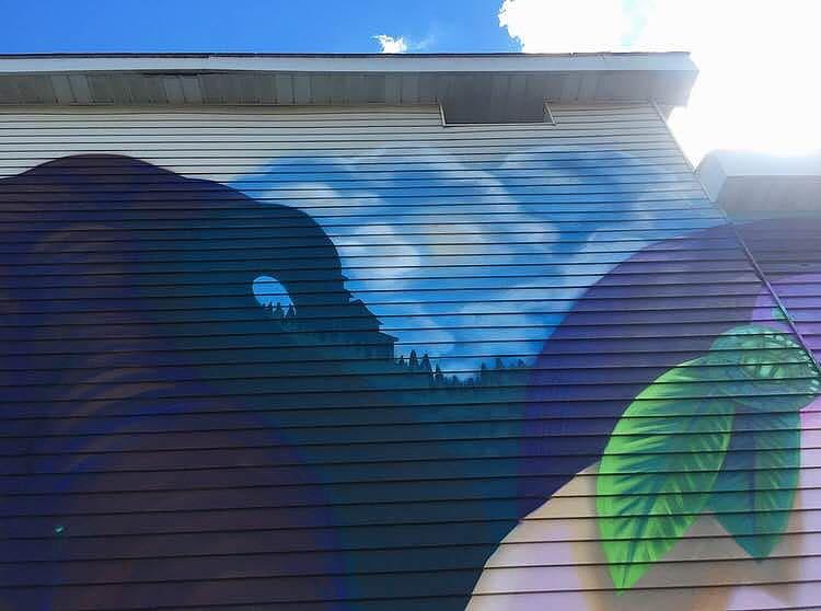 Murals by Yuhmi Collective seen at Hamburg Plumbing Supply Co., Inc., Hamburg - Daydreamer