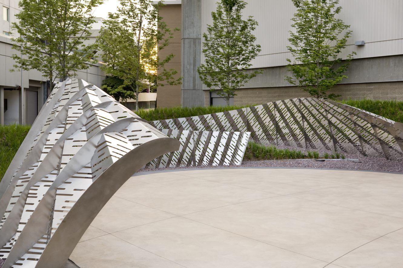Public Sculptures by Amuneal at Dunkin' Donuts Center, Providence - Horizon