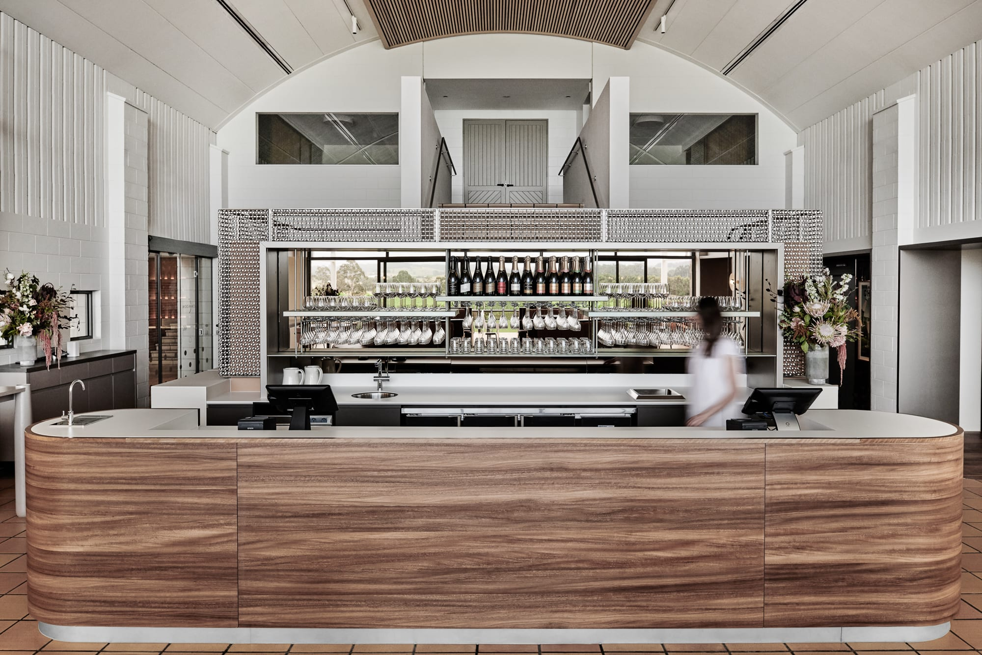 Furniture by George Fethers at Domaine Chandon, Coldstream - Spotted Gum Timber Flooring and Joinery