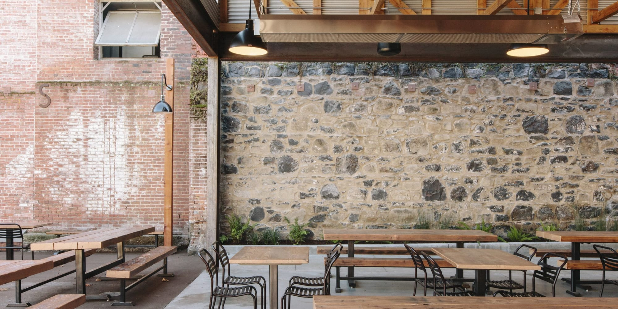 Interior Design by The Tide Design Co. seen at Brewsters Beer Garden + Restaurant, Petaluma - Interior Design