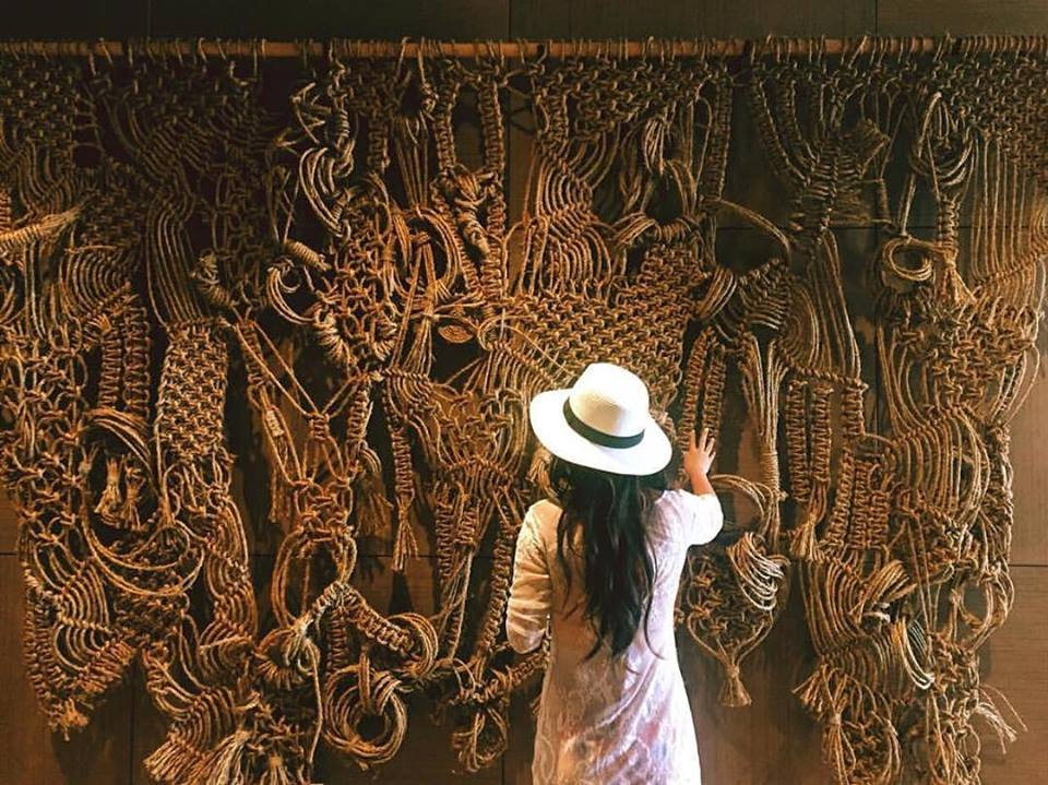 Macrame - manila piece by Free Creatures, Macrame Wall Hanging at La Hiki, Four Seasons Resort at Ko Olina, Restaurant