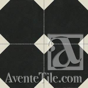 Tiles by Avente Tile seen at Wythe Hotel, Brooklyn - Mission Octagonal Cement Tile