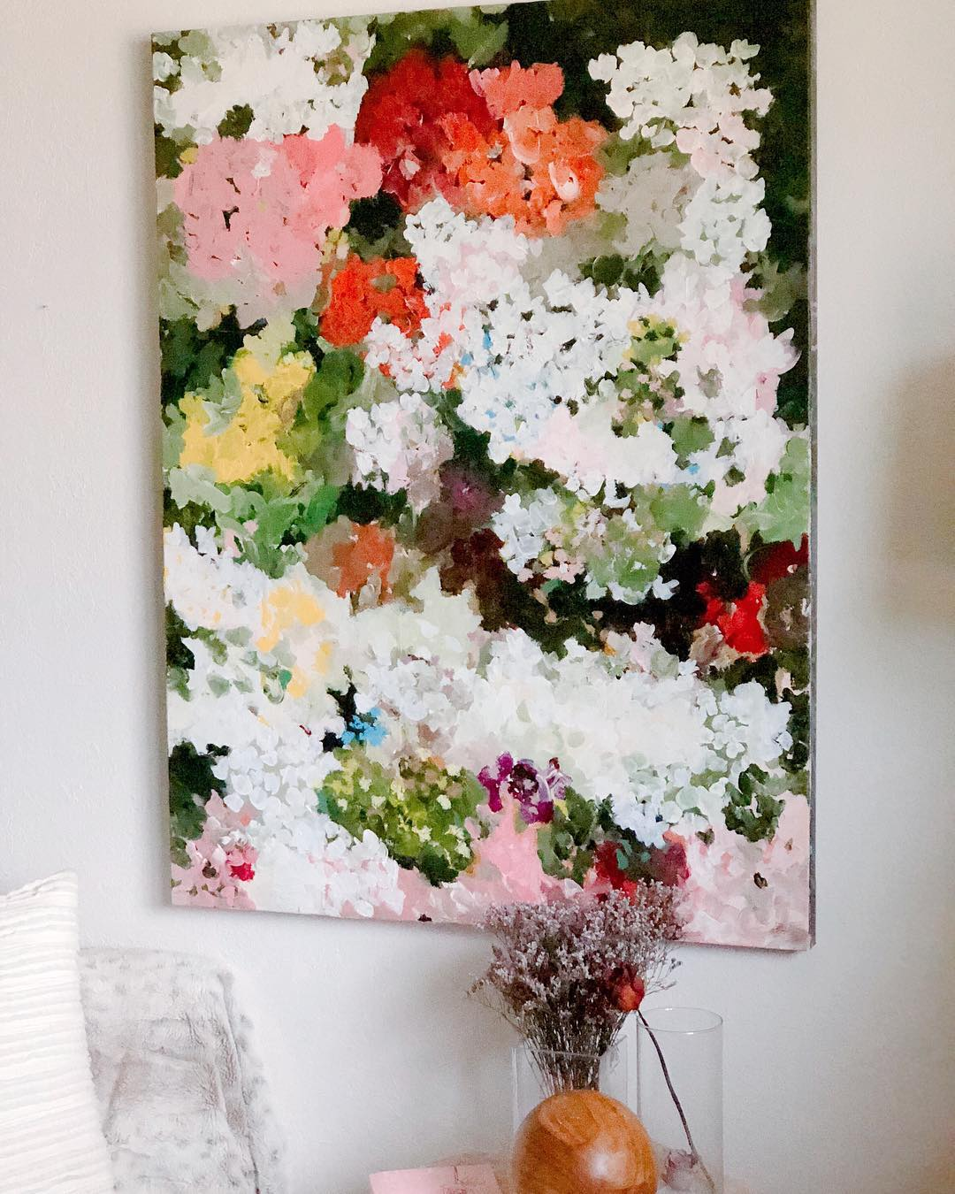 Multicolor abstract floral painting