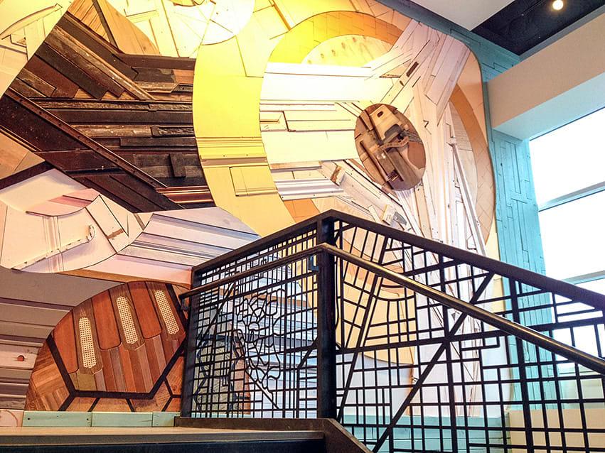Murals by Chris Silva seen at CBRE Chicago, Chicago - CBRE Mural