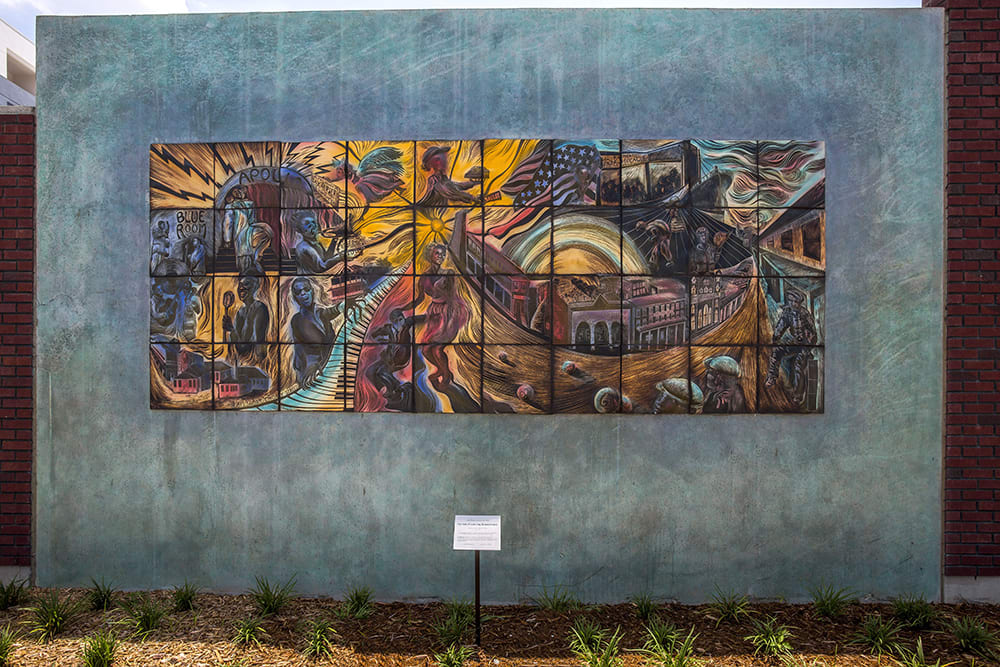 Street Murals by Natalie Blake Studios seen at The Trio At ENCORE!, Tampa - Noonday Sun: Central Ave. in its Heyday, 1920-1967
