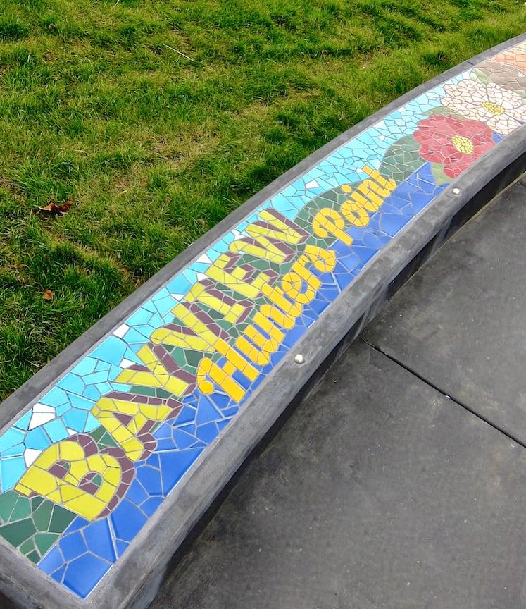 Public Mosaics by Rachel Rodi seen at Hilltop Park, San Francisco, CA, San Francisco - Hilltop Mosaic Bench
