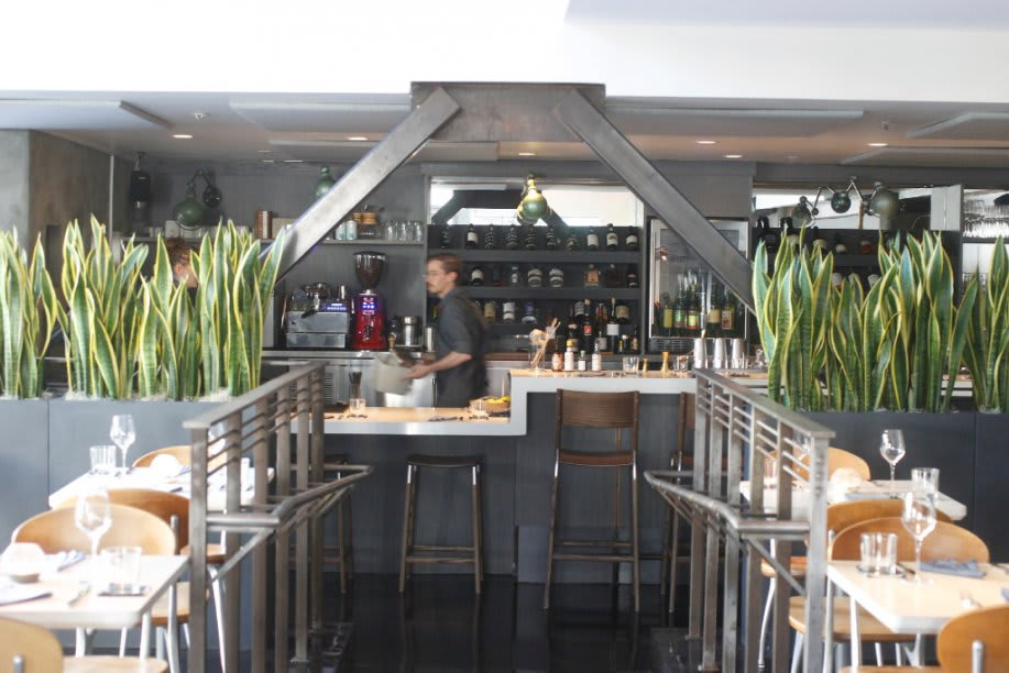 Chairs by Fyrn seen at The Morris Restaurant, San Francisco - De Haro Backless Counter Stool