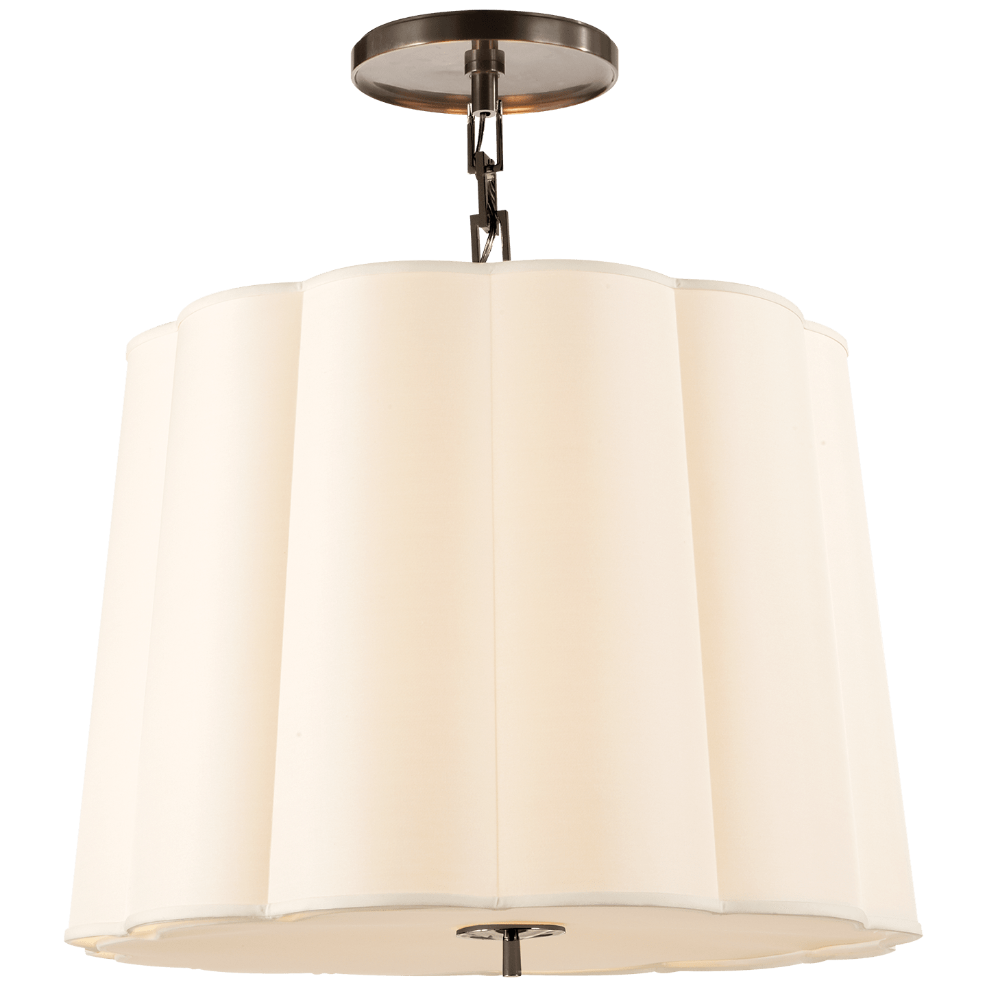 Lighting by Barbara Barry seen at The Beverly Hills Hotel, Beverly Hills - Simple Scallop Large Hanging Shade
