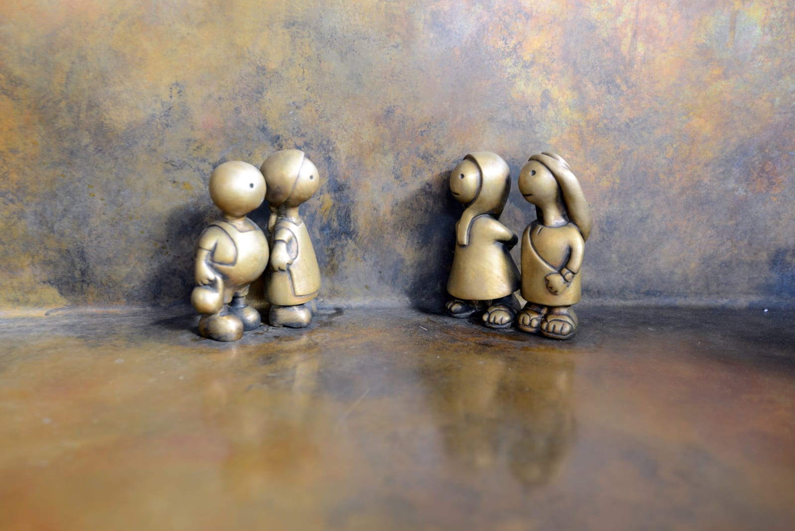 Other Worlds by Tom Otterness seen at Hamad International Airport ...