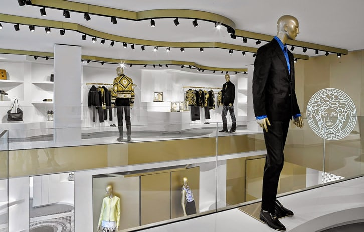 Interior Design by G4 Group seen at Versace, Barcelona - Architectural Design