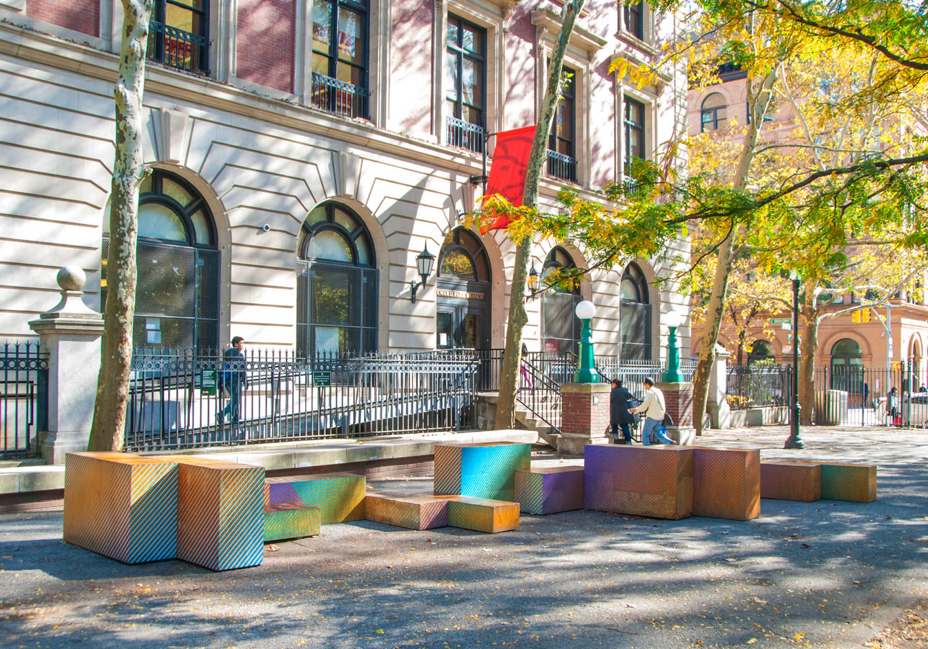 Public Sculptures by Cheryl Wing-Zi Wong seen at Seward Park, New York - Constellation
