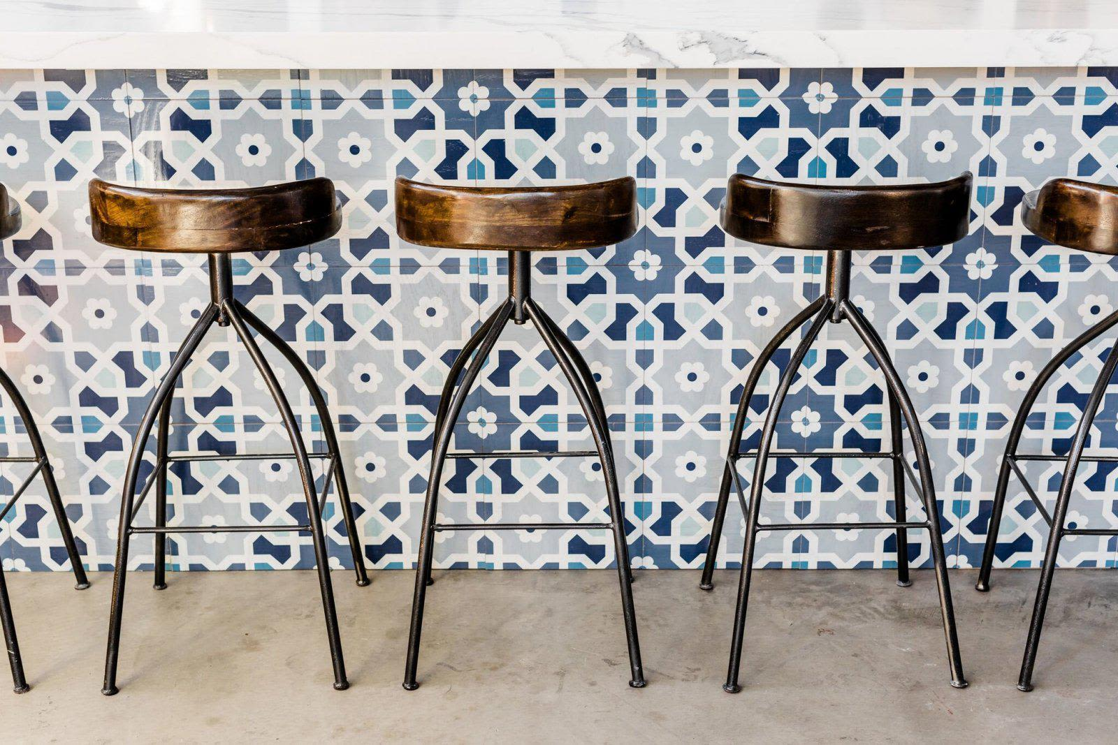 Tiles by Mirth Studio seen at You & Yours Distilling Co., San Diego - Morocco Hardwood Tiles