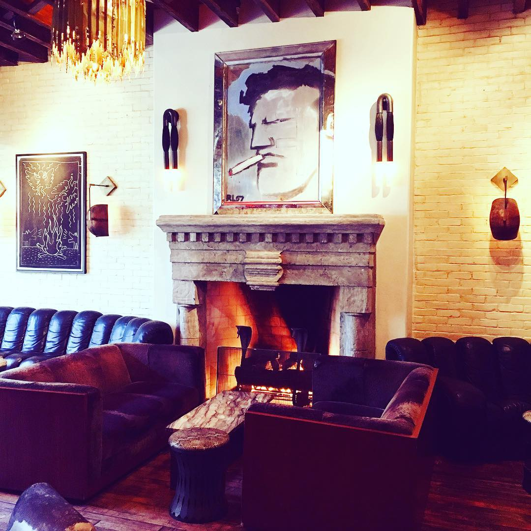 Couches & Sofas by Milo Baughman seen at The Ludlow Hotel, New York - Sofas reupholstered in shearling