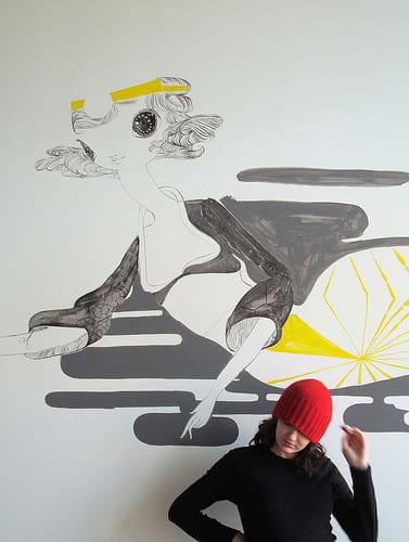 Murals by Kelly Tunstall seen at Bar Crudo, San Francisco - Mermaid Murals