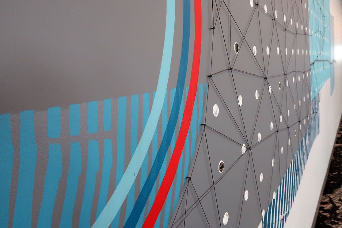 Murals by Erik Otto seen at Adobe Systems, San Jose - Landscapes 01
