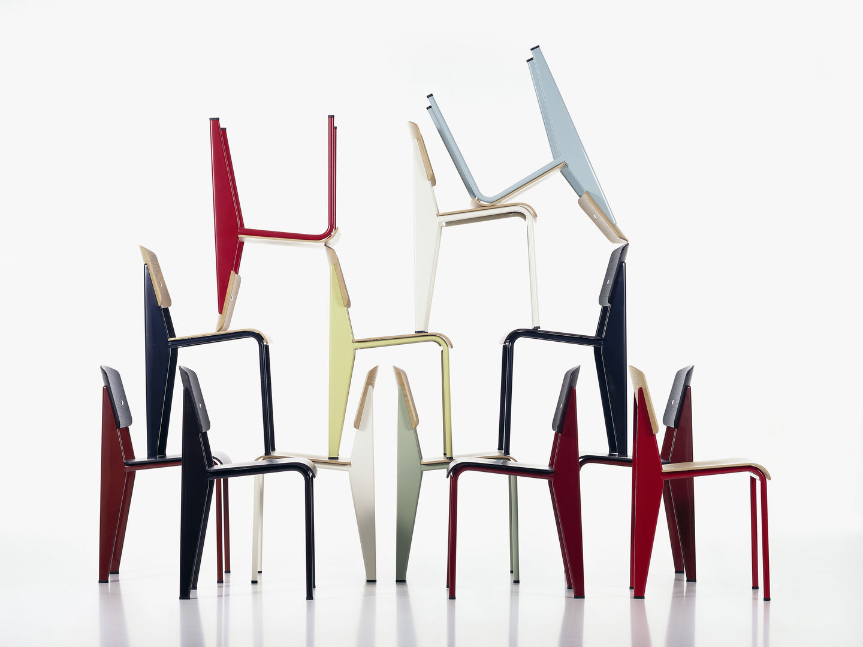 Chairs by Jean Prouvé seen at Hotel Tivoli, Tivoli - Standard Chair
