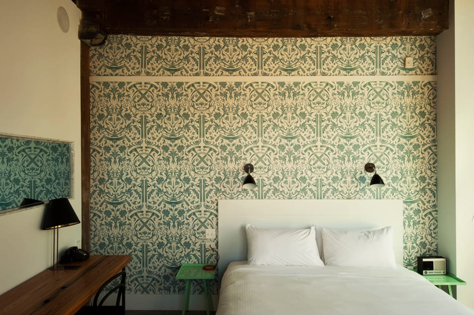 Wallpaper by Dan Funderburgh seen at Wythe Hotel, Brooklyn - Wallpaper