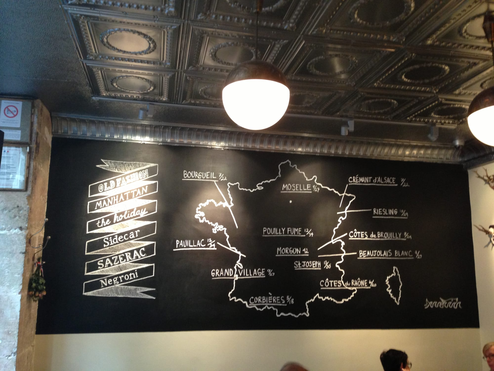 Signage by Mark Turgeon seen at Buvette, New York - Signage and Chalkboard Graphics