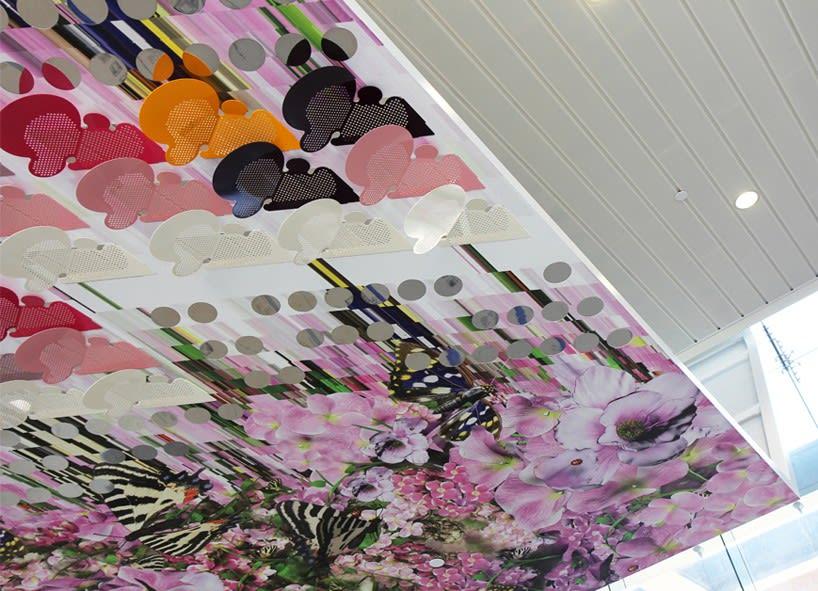 Art & Wall Decor by Elena Manferdini at Zev Yaroslavsky Family Support Center, Los Angeles - Inverted Landscapes