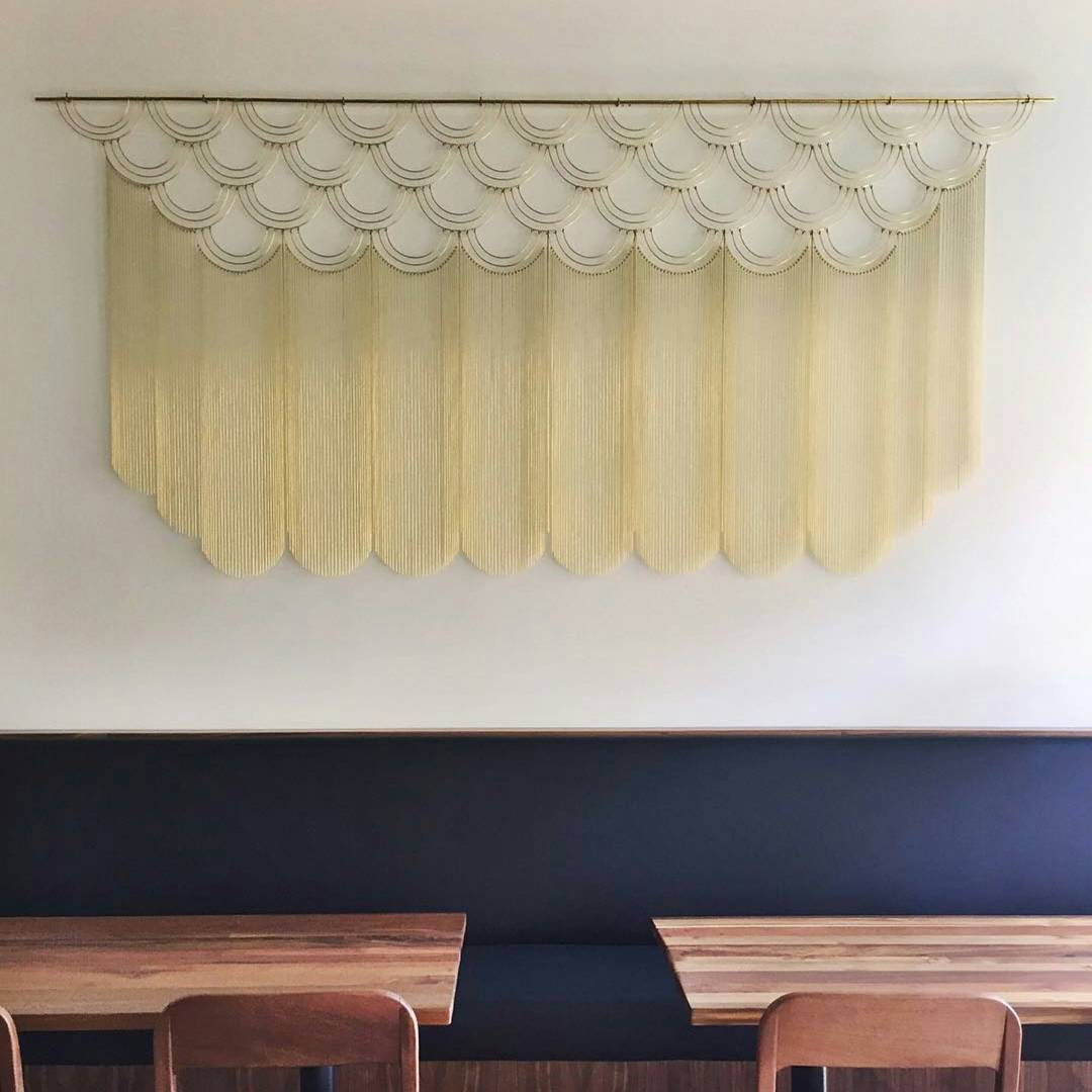 Art & Wall Decor by Beth Naumann seen at Mister Jiu's, San Francisco - Brass Geometric Installation