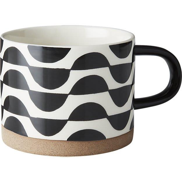 Cups by Namavari seen at CB2, Berkeley - Luna Black and White Mug